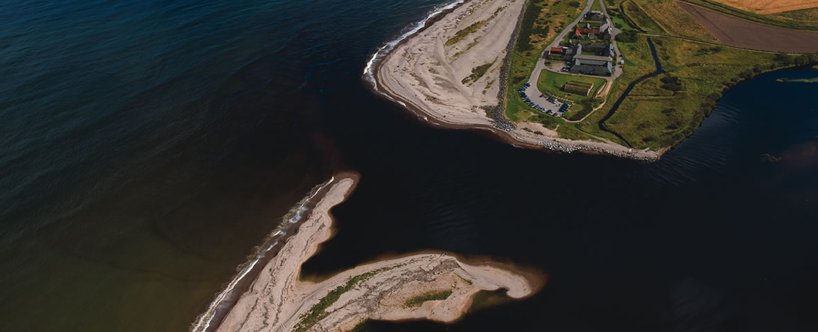 Aerial view of the Scottish Dolphin Centre