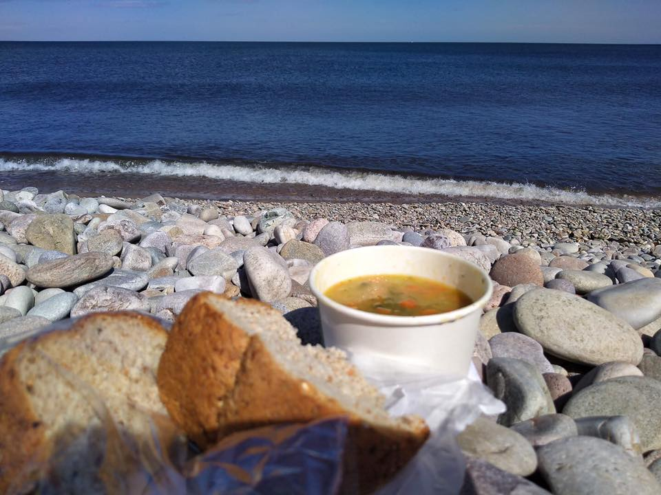 Takeaway cafe by the beach at Spey Bay